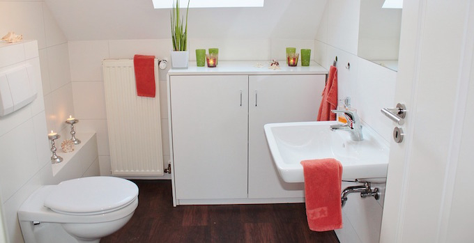 clean bathroom with towels