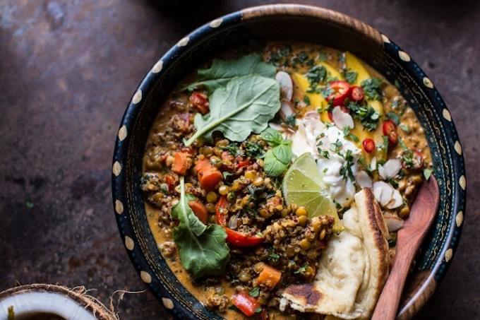 Vegan coconut and lentil curry Meat Free Monday