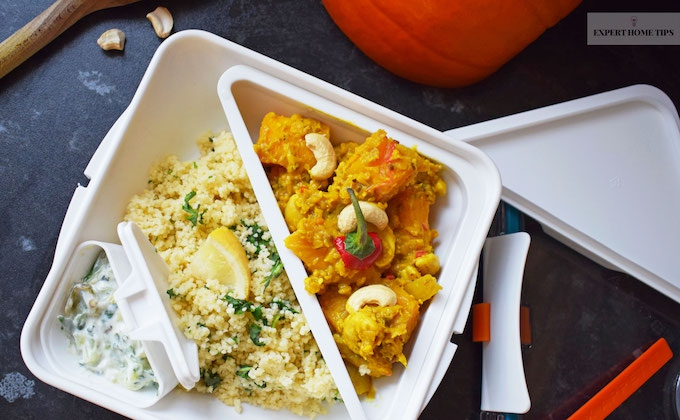 homemade curry in tupperware