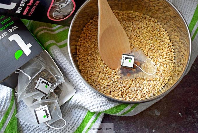 tea bag to flavour grains