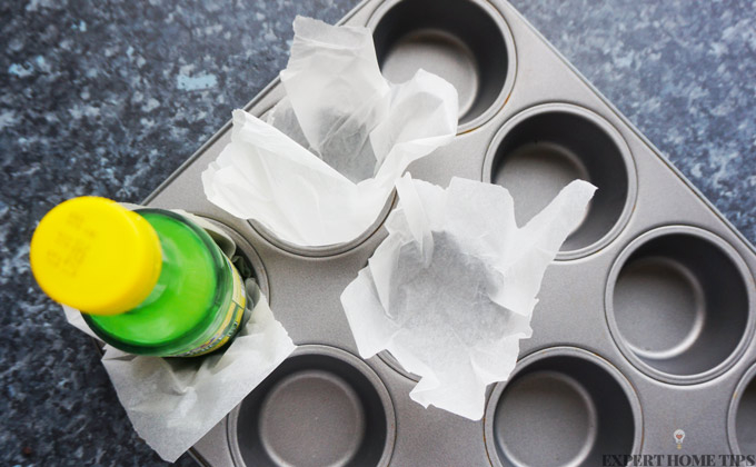 homemade muffin cases hack