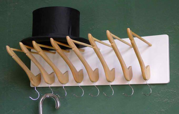upcycled wooden coat hangers coat rack