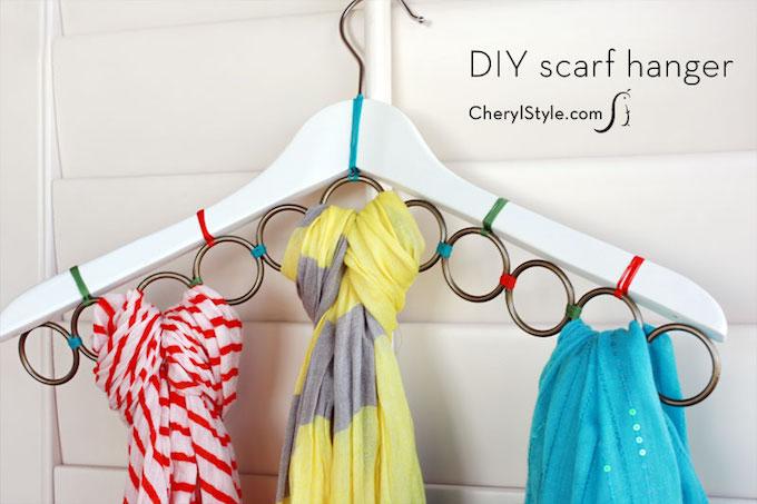 scarf organiser coat hanger