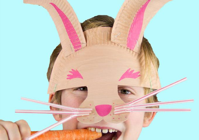 paper plate easter mask