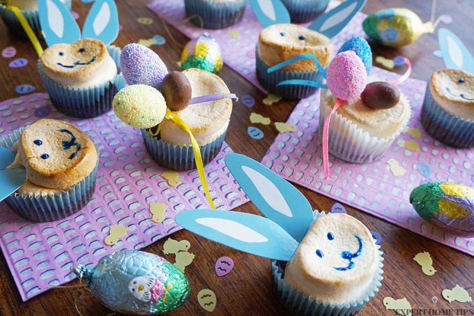 Easter marshmallow bunny cupcakes