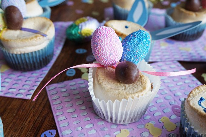 chocolate easter marshmallow cupcakes