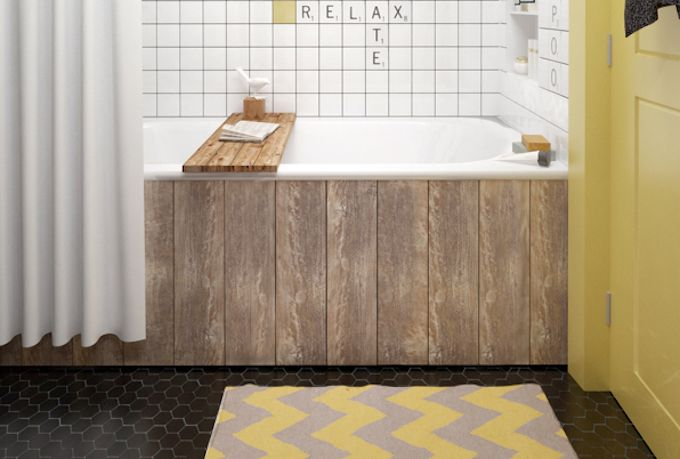 bathroom storage ideas over the bath