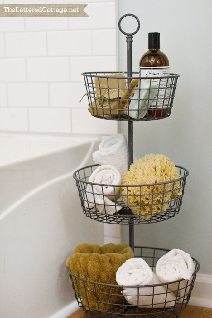 tiered storage baskets