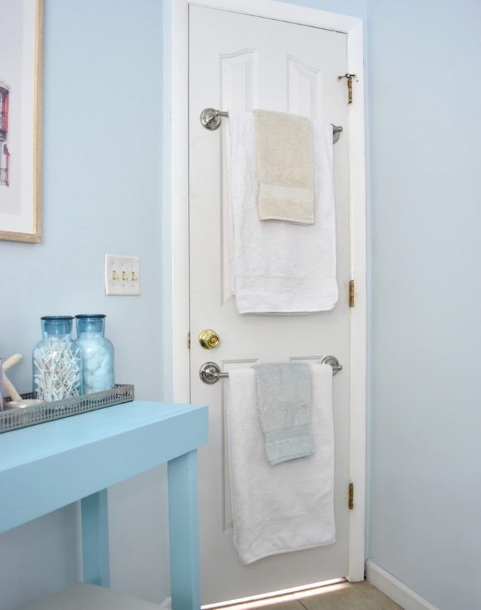 towel storage door rails