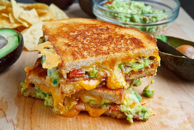 Bacon Guacamole Cheese Sandwich