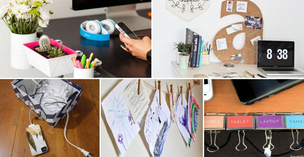 19 Office Organisation Ideas That'll TRANSFORM A Cluttered Workspace