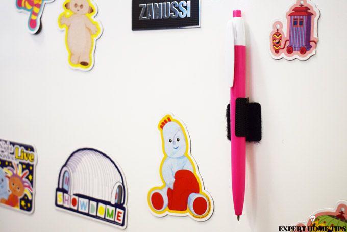 velcro hack pen fridge door