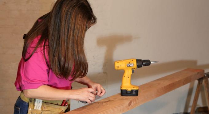 woman drilling life hacks