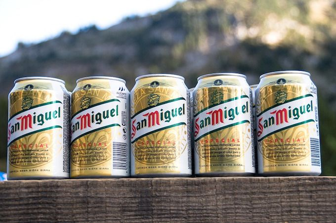 beer can san miguel