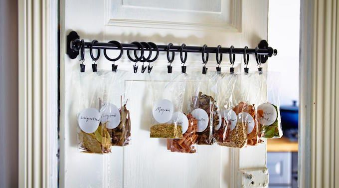 spices bags storage