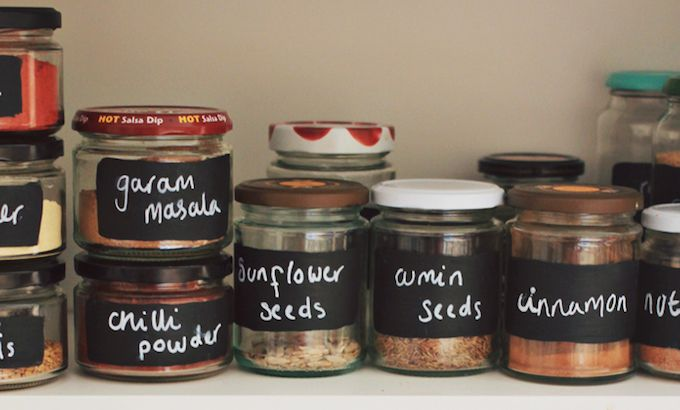jam jars spice storage