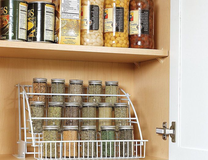 spice storage ideas pull down rack