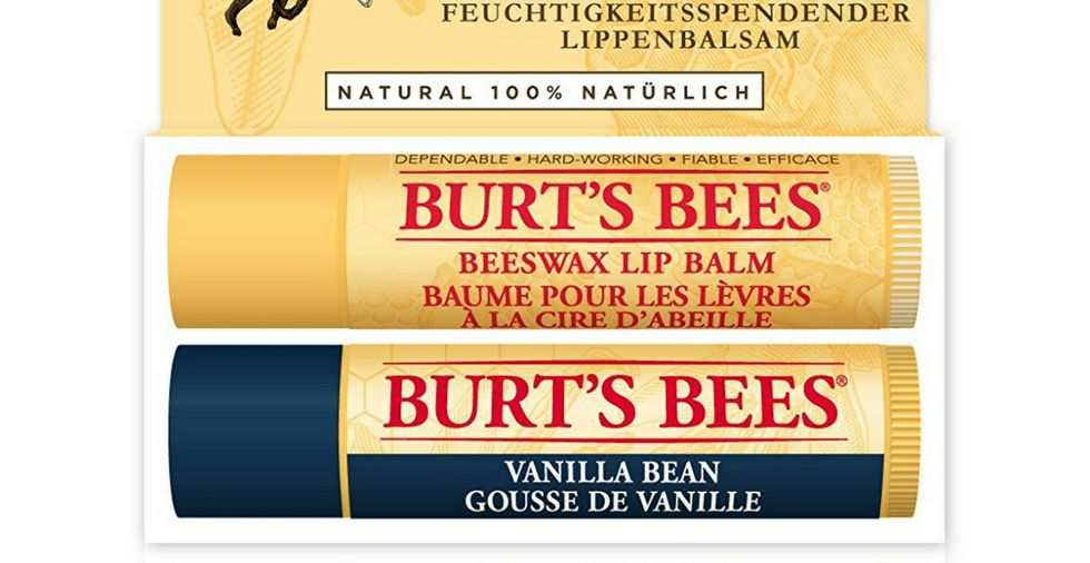 Duo of Burt's Bees lip balms
