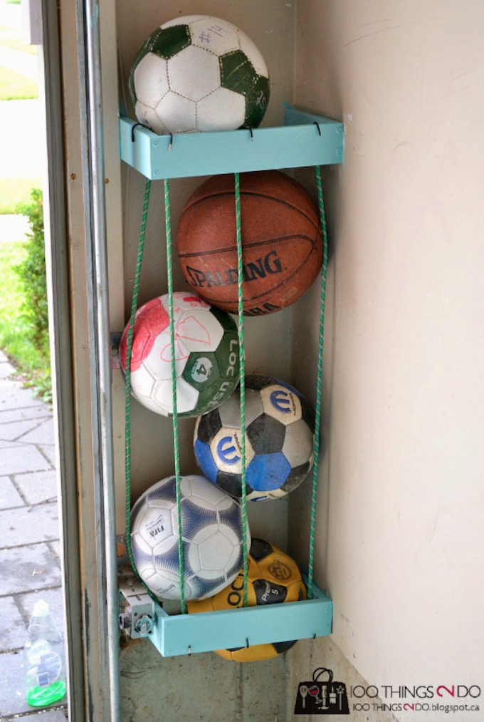 diy ball cage garage