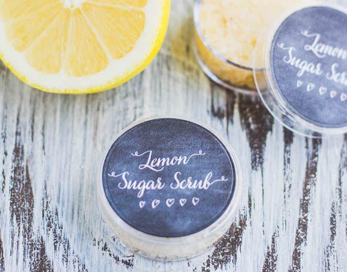 lemon lip scrub homemade