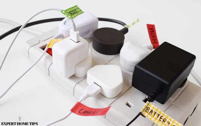 washi tape cord organiser