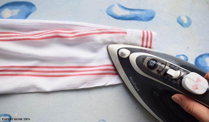 ironing shirt