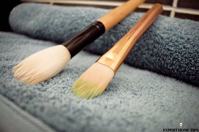 brush drying hack with towel