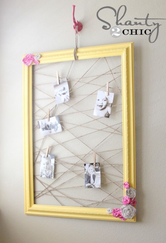 yellow frame memo board