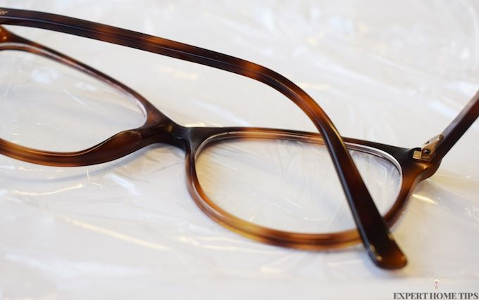 cling film glasses hack