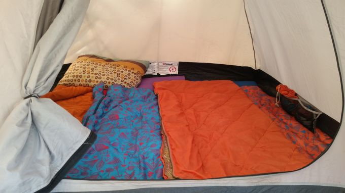 camping bed sleeping bag