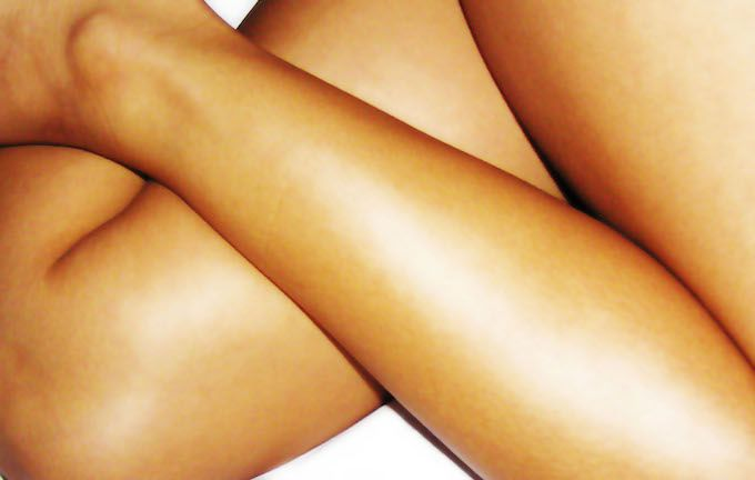 fake tan legs