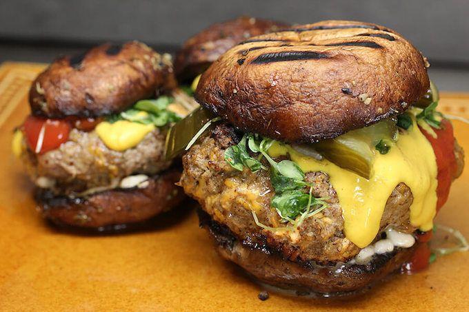 mushroom bun burger
