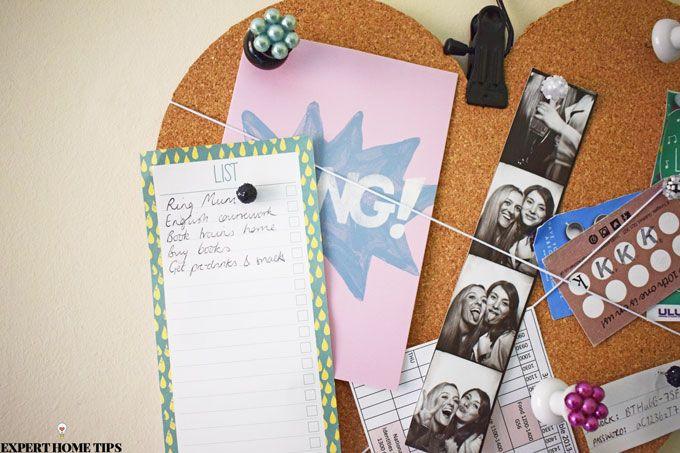 diy love heart noticeboard