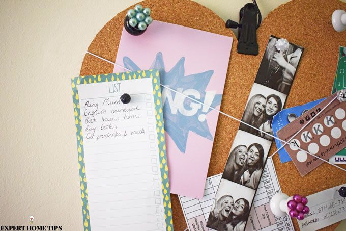 diy love heart corkboard