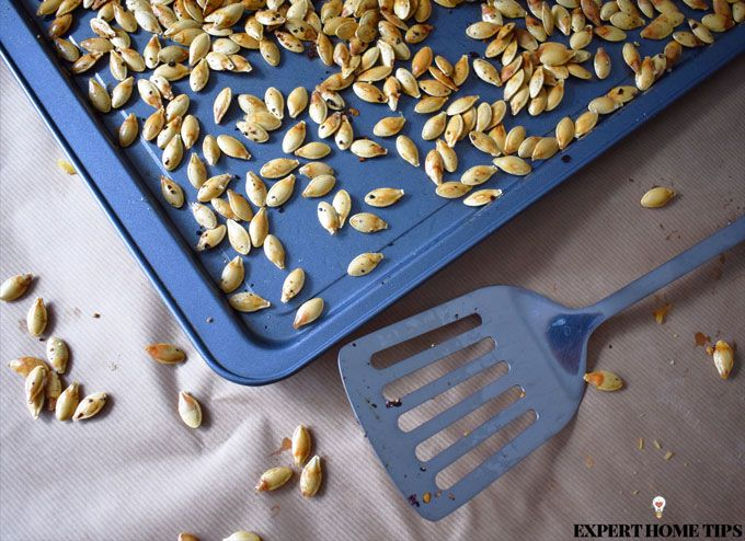 Cooked pumpkin seeds