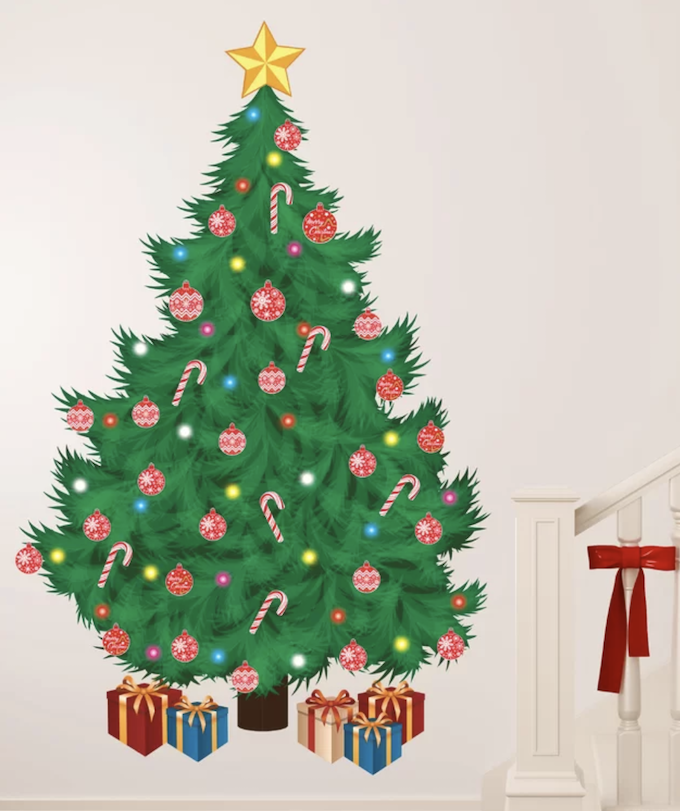 christmas tree alternatives wall sticker