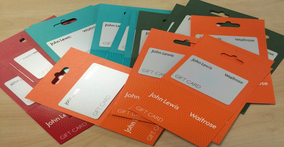 Win: 1 of 20 £10 John Lewis Gift Vouchers