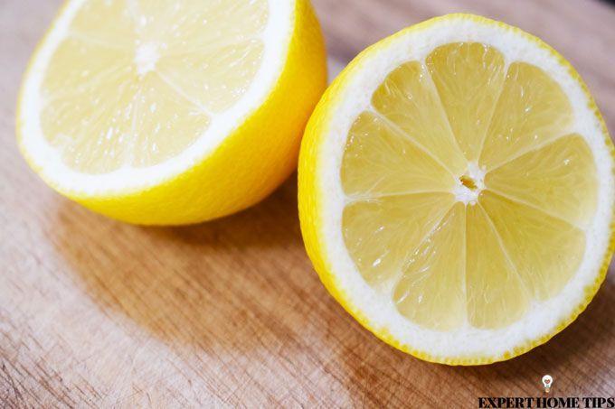 sliced lemon halves