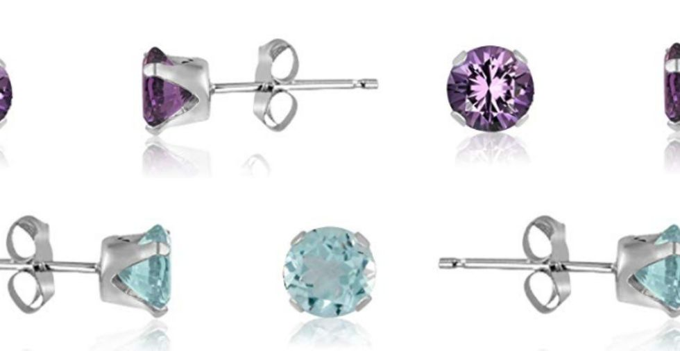 Free Giveaway: Sterling Silver Round Cut Stud Earrings