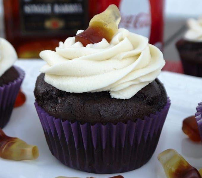 jack daniels and coke cupcakes