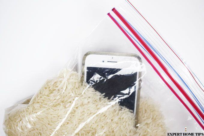dry phone in rice