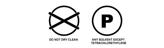 dry cleaning symbols