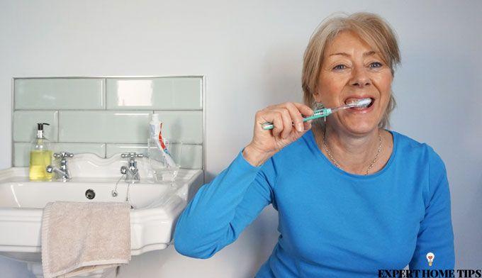 toothbrush wall squats