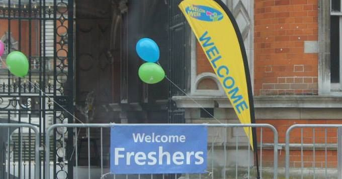 freshers arrival sign