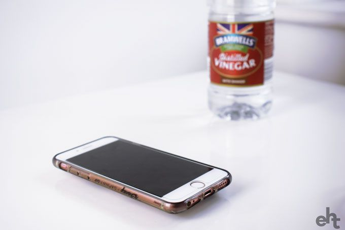 phone and vinegar