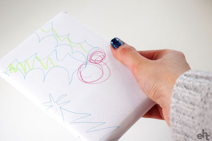 wrapping paper made from drawings