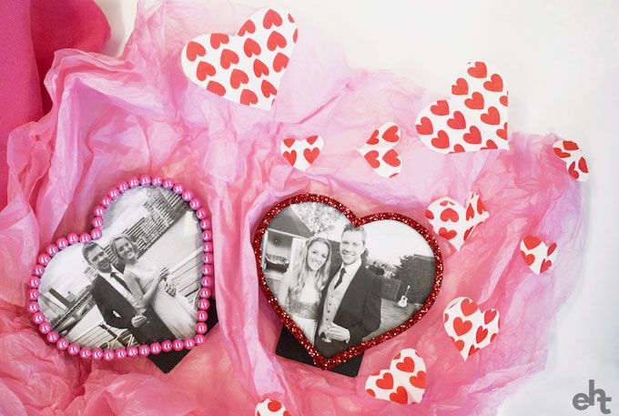 Unwrapped heart photo frames