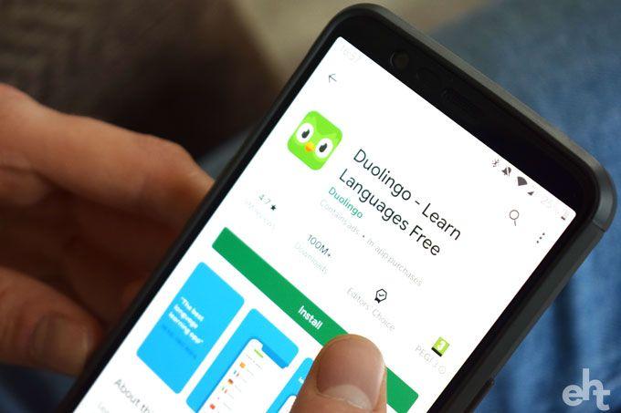 duolingo app on phone