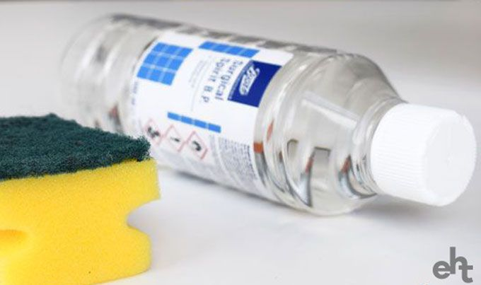 cleaning with rubbing alcohol
