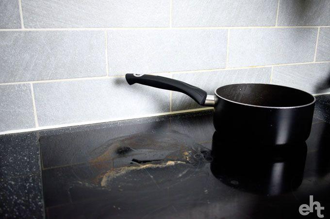 dirty ceramic hob